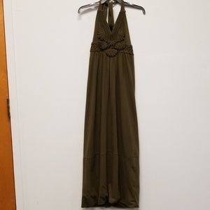 Milly Of New York Olive Embroidered Maxi Dress P
